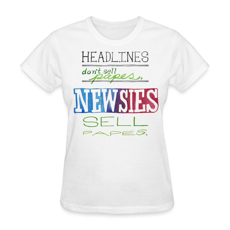 Newsies sell papes t shirt spreadshirt for Best website to sell t shirts