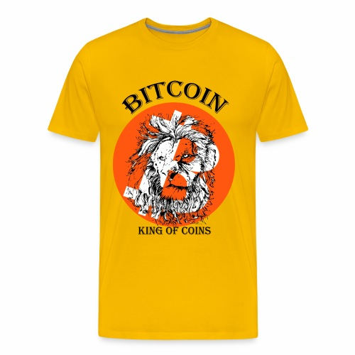 Bitcoin the king of coins - Men's Premium T-Shirt