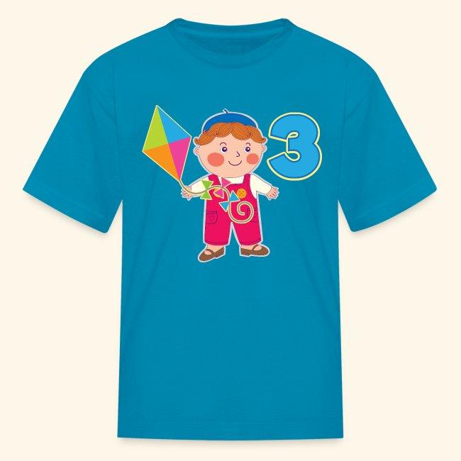 3rd Birthday T Shirt 3 Year Old Boy