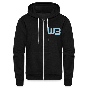 WCB Holy Shit zip Hoodie - Unisex Fleece Zip Hoodie by American Apparel
