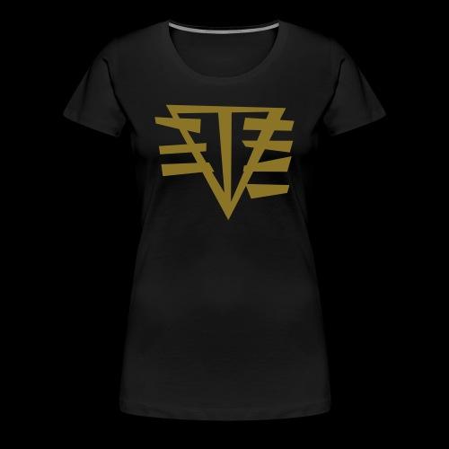 (METALLIC) LOGO // GOLDEN GIRL - Women's Premium T-Shirt