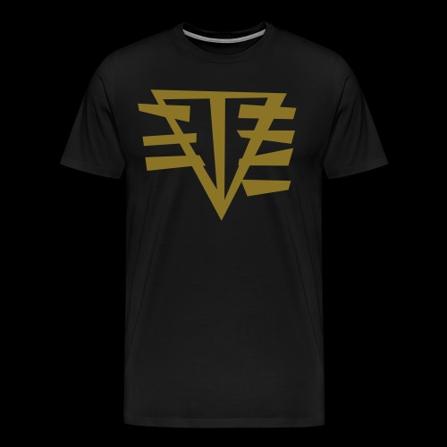 (METALLIC) LOGO // GOLDEN BOY - Men's Premium T-Shirt