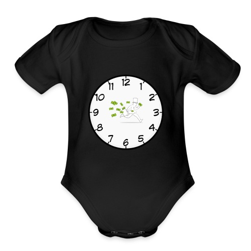 money baby - Organic Short Sleeve Baby Bodysuit