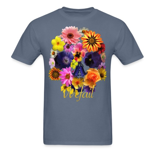 Flower Skull - Men's T-Shirt