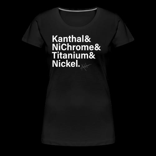 Vape Wire List Women's Shirt (white text) - Women's Premium T-Shirt