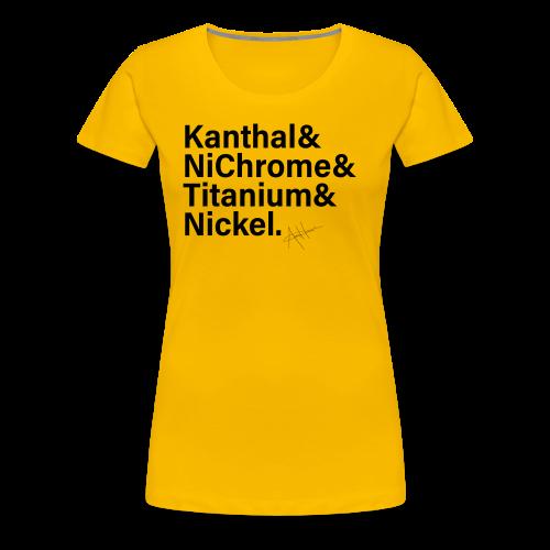 Vape Wire List Women's Shirt (black text) - Women's Premium T-Shirt