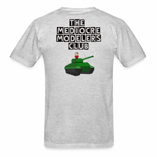 Mediocre Modelers tank rider back White sprue front - Men's T-Shirt