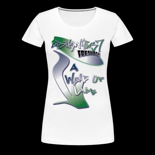 A Wave Of Life (Double Sided Design) - Women's Premium T-Shirt