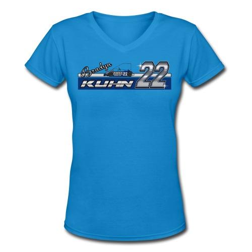 Bradyn22 - Blue Women's V - Women's V-Neck T-Shirt