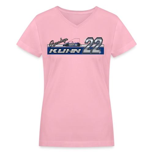 Bradyn22 - Pink Women's V - Women's V-Neck T-Shirt