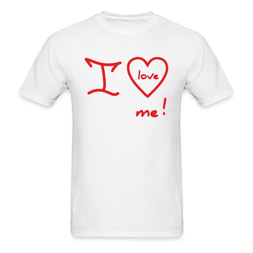 RED I LOVE ME - Men's T-Shirt
