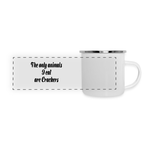 THE ONLY ANIMALS I EAT ARE CRACKERS - Panoramic Camper Mug