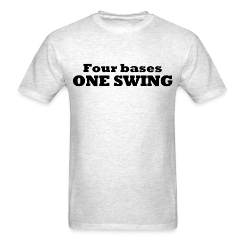 Four bases one swing - Men's T-Shirt