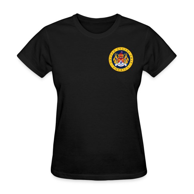 USS AMERICA CV-66 1995-96 WOMENS CRUISE SHIRT - FAMILY
