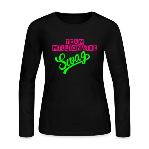 Women's Long Sleeve Jersey T-Shirt - Team name on front and website on back.