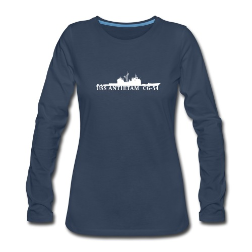 USS ANTIETAM CG-54 WOMENS WATERLINE LONG SLEEVE - Women's Premium Long Sleeve T-Shirt