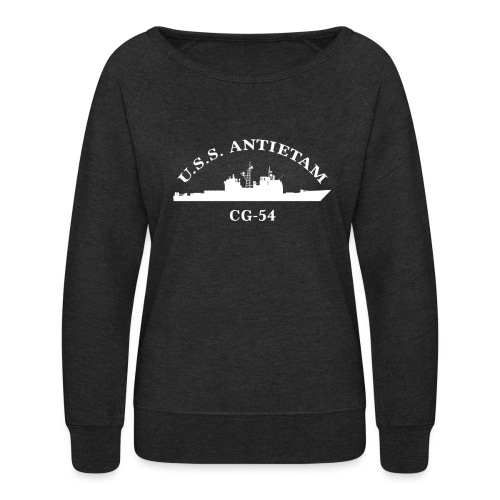 USS ANTIETAM CG-54 WOMENS ARC SWEATSHIRT - Women's Crewneck Sweatshirt