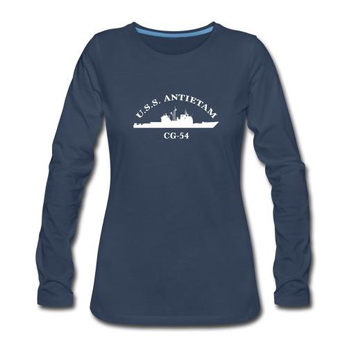 USS ANTIETAM CG-54 WOMENS ARC LONG SLEEVE - Women's Premium Long Sleeve T-Shirt