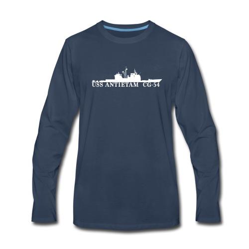 USS ANTIETAM CG-54 WATERLINE LONG SLEEVE - Men's Premium Long Sleeve T-Shirt