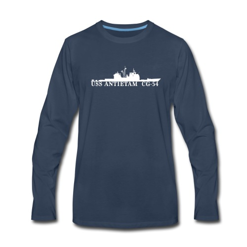 USS ANTIETAM CG-54 WATERLINE LONG SLEEVE - Men's Premium Long Sleeve T-Shirt