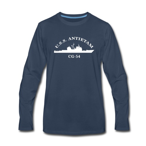 USS ANTIETAM CG-54 ARC LONG SLEEVE - Men's Premium Long Sleeve T-Shirt
