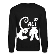 Long Sleeve Shirts ~ Men's Crewneck Sweatshirt ~ Cali - Crewneck