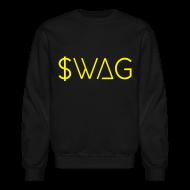 Long Sleeve Shirts ~ Men's Crewneck Sweatshirt ~ $wag - Crew-neck