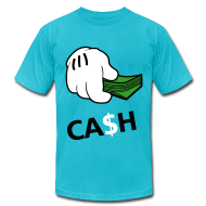 T-Shirts ~ Men's T-Shirt by American Apparel ~ Cash - tshirt
