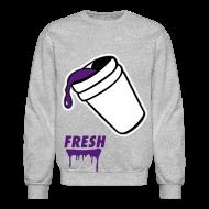 Long Sleeve Shirts ~ Men's Crewneck Sweatshirt ~ Lean - CrewNeck