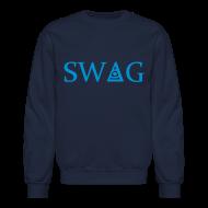 Long Sleeve Shirts ~ Men's Crewneck Sweatshirt ~ Third eye swag - crew neck