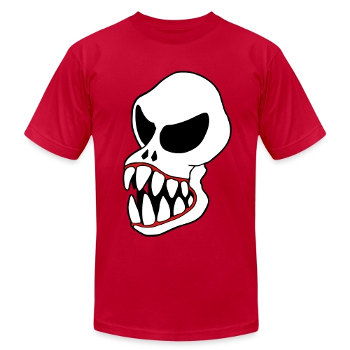 Monster Skull Men's T-shirt - Men's T-Shirt by American Apparel