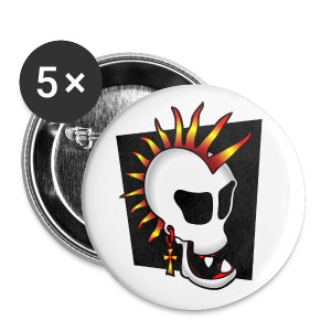 PUNK Skull small buttons - Small Buttons