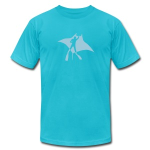 animal t-shirt manta ray scuba diver diving dive fish sting ray - Men's T-Shirt by American Apparel