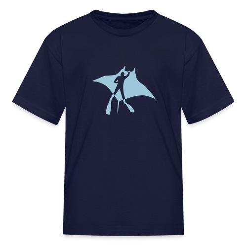 animal t-shirt manta ray scuba diver diving dive fish sting ray - Kids' T-Shirt