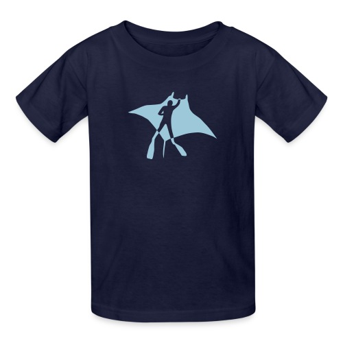 animal t-shirt manta ray scuba diver diving dive fish sting ray - Kids' T-Shirt