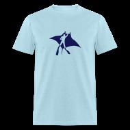 T-Shirts ~ Men's T-Shirt ~ animal t-shirt manta ray scuba diver diving dive fish sting ray