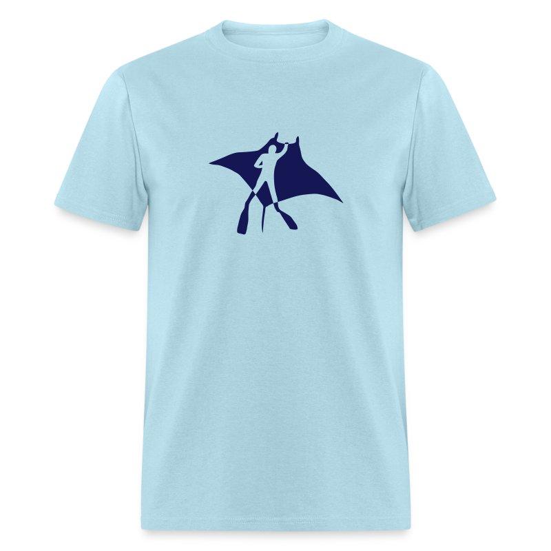 animal t-shirt manta ray scuba diver diving dive fish sting ray - Men's T-Shirt