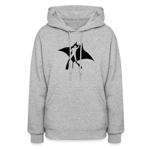 animal t-shirt manta ray scuba diver diving dive fish sting ray - Women's Hoodie