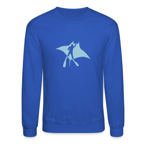 animal t-shirt manta ray scuba diver diving dive fish sting ray - Crewneck Sweatshirt