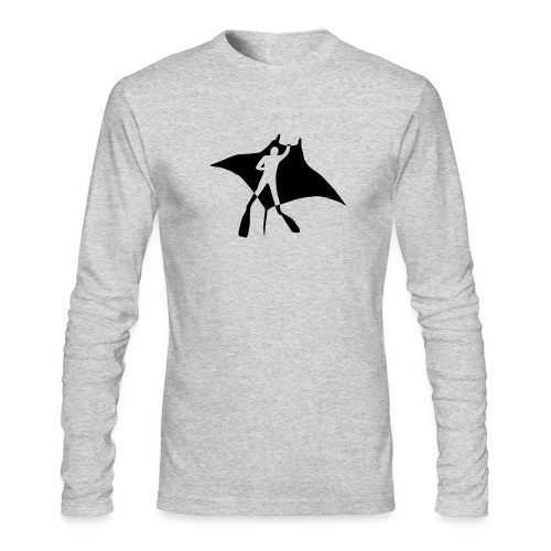animal t-shirt manta ray scuba diver diving dive fish sting ray - Men's Long Sleeve T-Shirt by Next Level