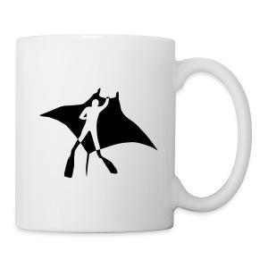 animal t-shirt manta ray scuba diver diving dive fish sting ray - Coffee/Tea Mug