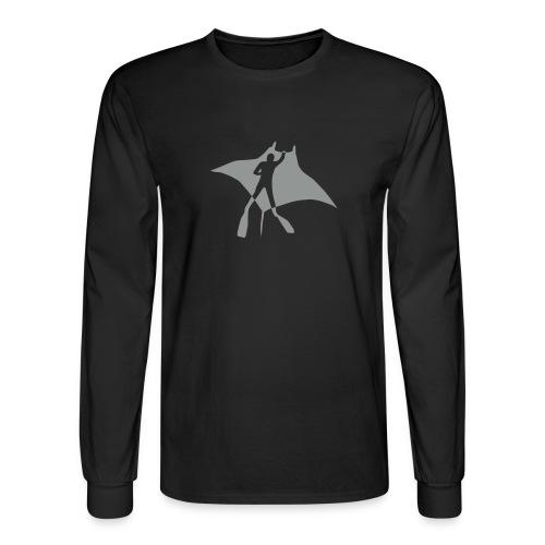 animal t-shirt manta ray scuba diver diving dive fish sting ray - Men's Long Sleeve T-Shirt
