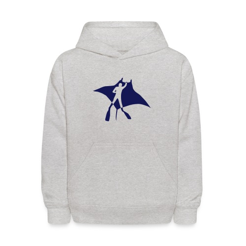 animal t-shirt manta ray scuba diver diving dive fish sting ray - Kids' Hoodie