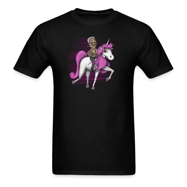 Morgan Freeman Riding a Unicorn While Eating Spahgetti
