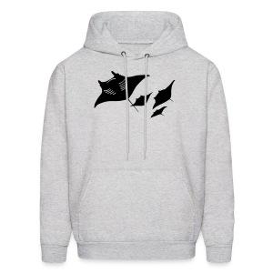 animal t-shirt manta ray scuba diver diving dive fish sting ray - Men's Hoodie