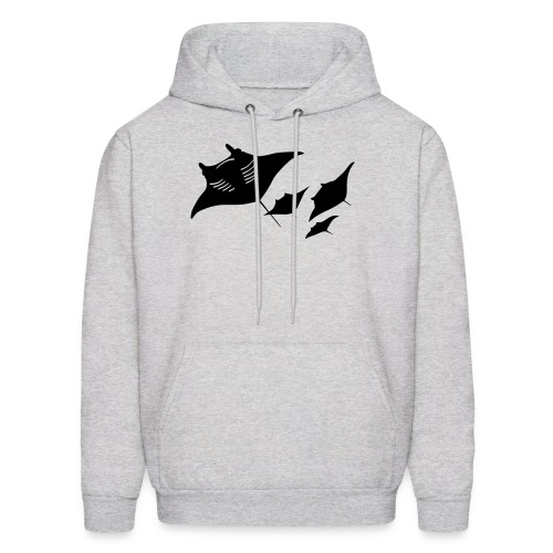 animal t-shirt manta ray scuba diver diving dive fish sting ray - Men's Hoodie