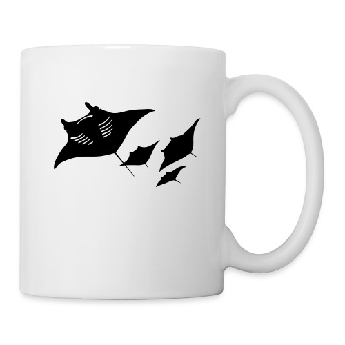 animal t-shirt manta ray scuba diver diving dive fish sting ray - Coffee/Tea Mug