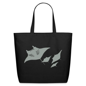 animal t-shirt manta ray scuba diver diving dive fish sting ray - Eco-Friendly Cotton Tote