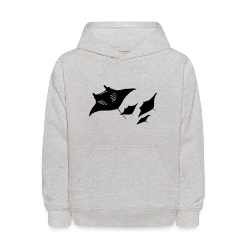 animal t-shirt manta ray scuba diver diving dive fish sting ray - Kids' Hoodie