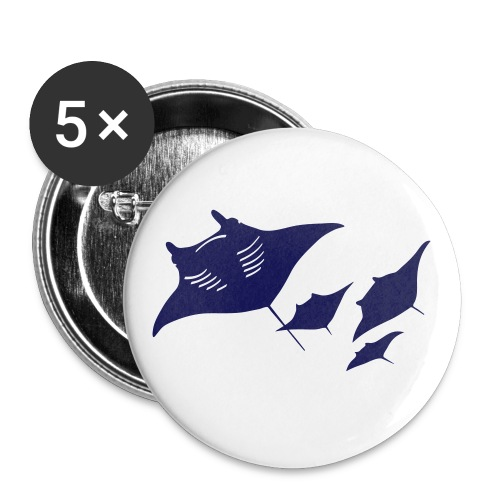 animal t-shirt manta ray scuba diver diving dive fish sting ray - Small Buttons
